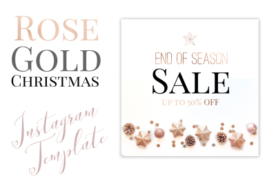 Rose Gold Christmas Instagram Template