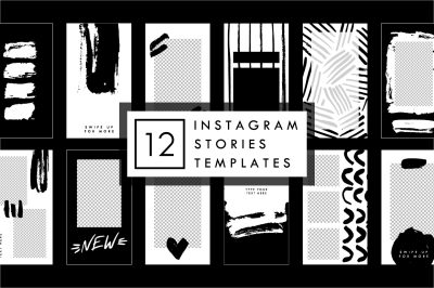 Black Brush - Instagram Stories Templates