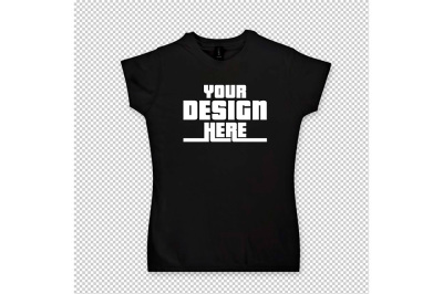 Lady's T-shirt Mock up - Psd File with Layers