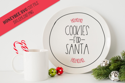 Cookies For Santa's Plate SVG Cut File