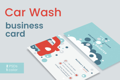 Car Wash Business Card