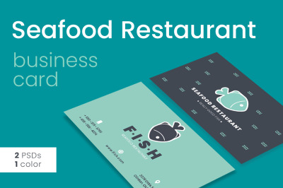 Seafood Restaurant Business Card