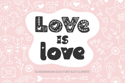 Love is Love | Font Duo