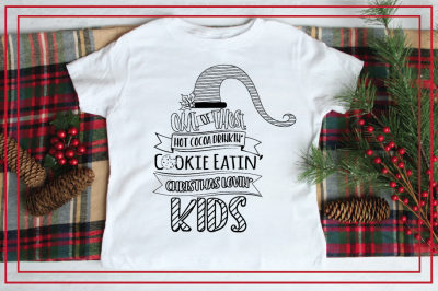 Christmas Lovin' Kid SVG Color In Design Cut-File