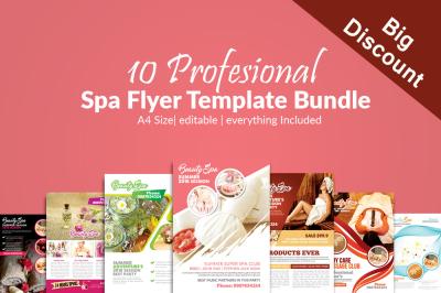 10 Beauty Spa & Massage Flyers Bundle
