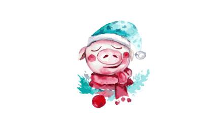 Piggy-Santa