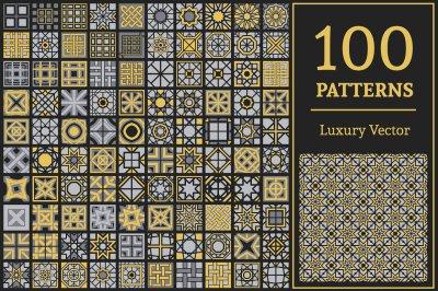 100 Vector Geometric Patterns