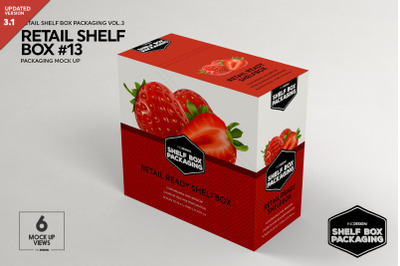 Retail Shelf Box Packaging Mockup 13