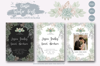 Classic Winter WEDDING INVITATIONS