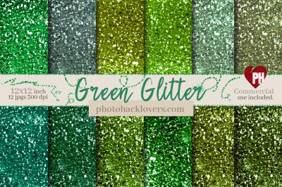Green Glitter Digital Paper