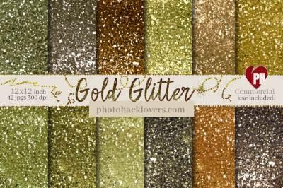 Gold Glitter Digital Paper