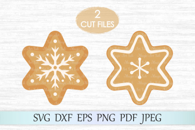 Gingerbread cookies SVG, Cookies SVG, Gingerbread cut file