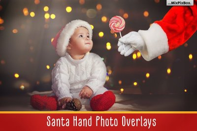 Santa Hand - PNG overlays