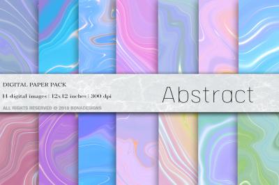 Abstract Liquid Digital Paper
