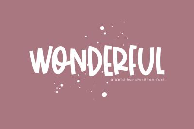 Wonderful - A Bold Handwritten Font
