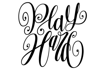 Play Hard Lettering SVG
