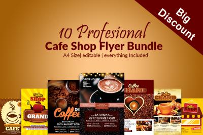 10 Cafe Restaurant Flyers Bundle