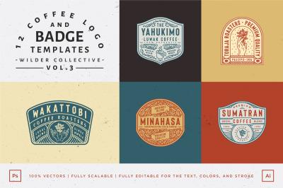 12 Coffee Logo and Badge Templates