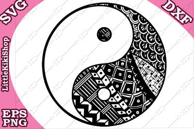 Yin Yang Svg, MANDALA YIN YANG, Yin Yang tattoo Svg