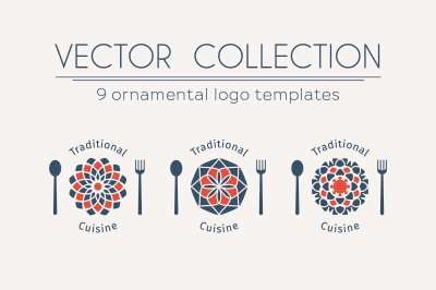 9 Traditional Cuisine Logo Templates