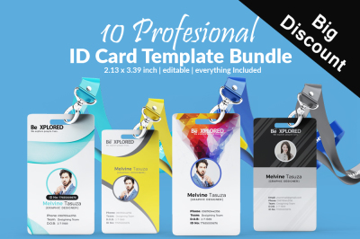 10 Business Id Cards Bundle