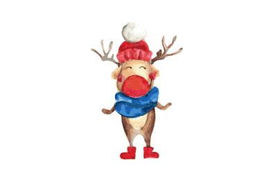 Deer with hat