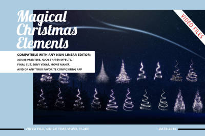 Magical Christmas Video Elements (Star Snow Tree)