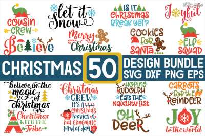 MEGA Christmas Bundle SVG PNG EPS DXF Cutting Files