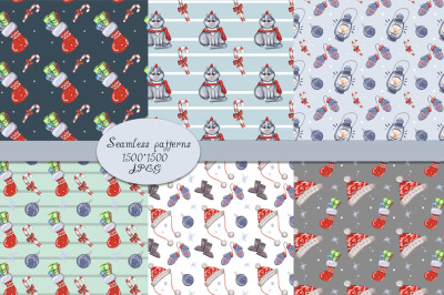 Christmas digital paper patterns
