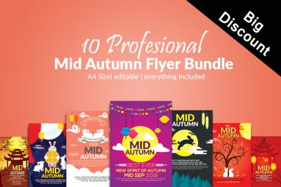 10 Mid Autumn Flyers Bundle