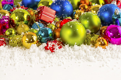 Christmas multicolored background.