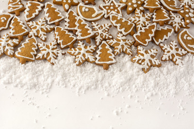 Gingerbread on the white background.