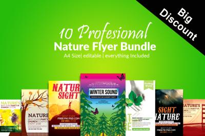 10 The Nature Flyers Bundle Templates