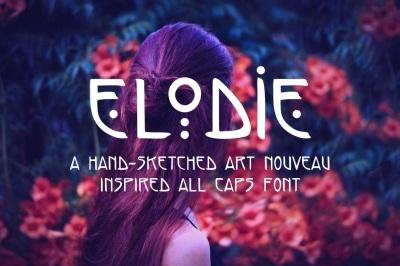 Elodie - Hand Made Art Nouveau Font