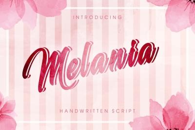 Melania - Beautiful script