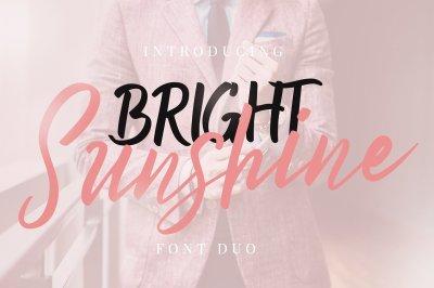 Bright Sunshine Font Duo
