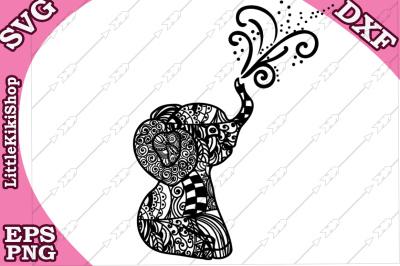 Baby Elephant Svg, MANDALA ELEPHANT SVG, Zentangle animal Svg