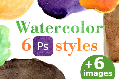 Watercolor PC style for text, object