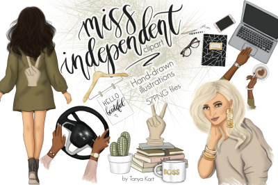Miss Independent Graphic Design Kit