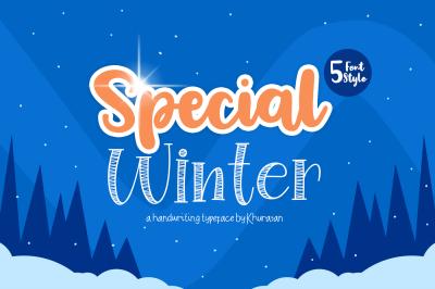 Special Winter 5 Font + Bonus