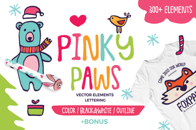 Pinky Paws - Scandinavian Nursery Pack
