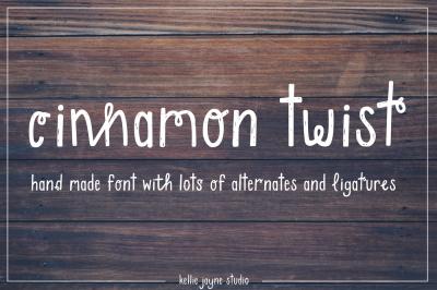 Cinnamon Twist Handdrawn Font