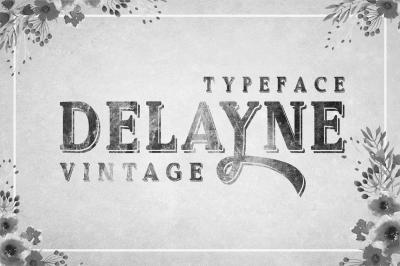 Delayne - Vintage Typeface