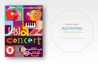 Jazz Concert / Jazz Festival vector poster design