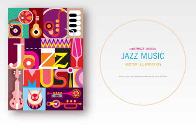 Jazz Music vector poster design
