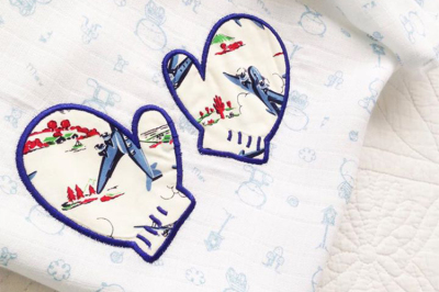Snow Mittens | Applique Embroidery