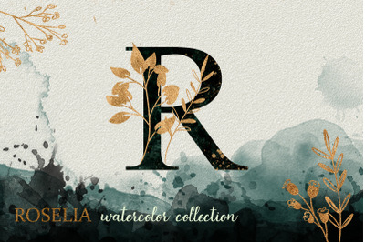 Roselia Gold Watercolor Collection