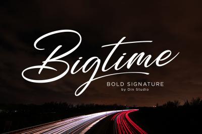 Bigtime-Signature Font