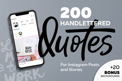 200 handlettered quotes for Instagram