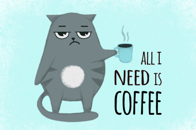 All i need is coffee cat
